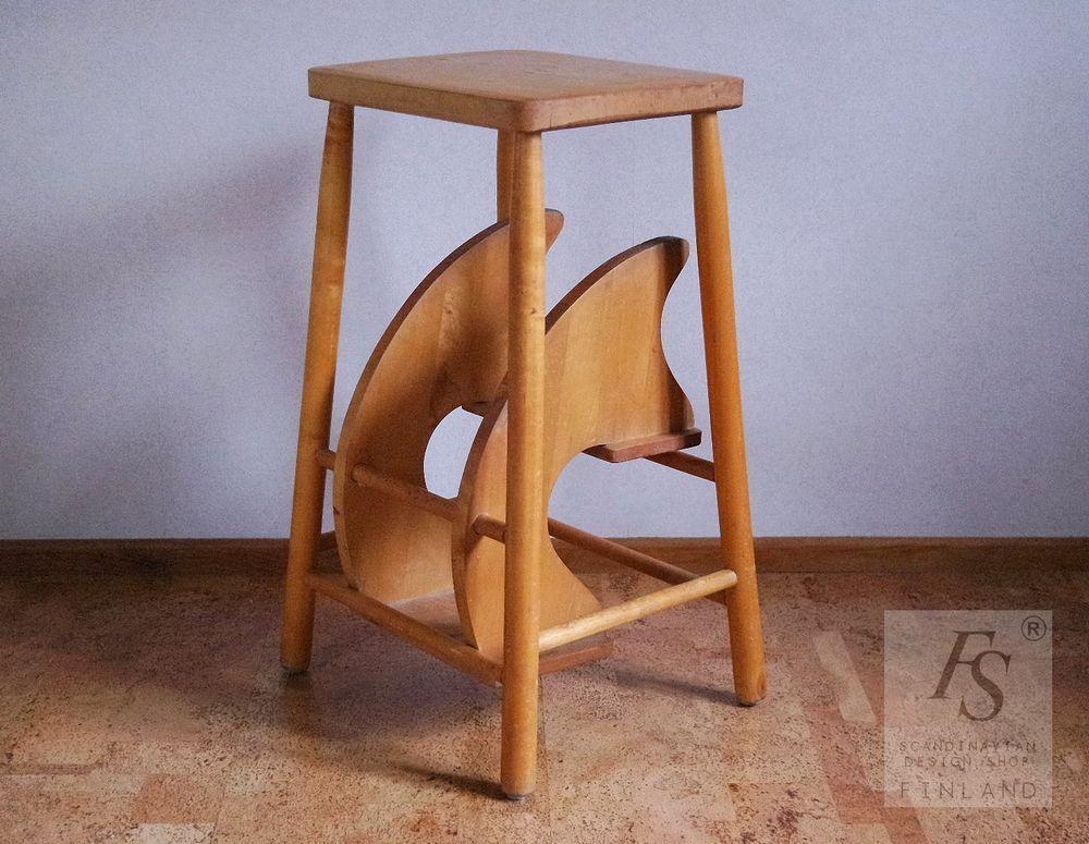 vintage folding step stool. Black Bedroom Furniture Sets. Home Design Ideas