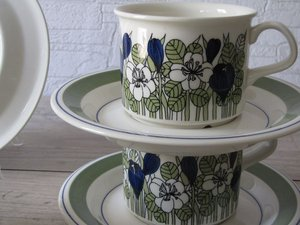 Arabis KROKUS coffee cup and saucer, designed by Esteri Tomula.\\n\\n29.7.2013 19.08