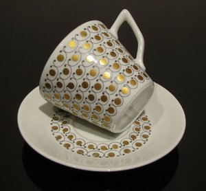Arabia MEKKA cup and saucer, designed by Esteri Tomula.\\n\\n10.7.2013 21.31