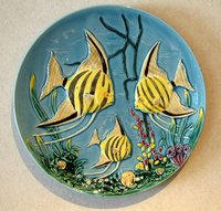 The beautiful wall plate from west germany
