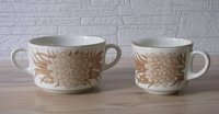 Arabia PULMU sugar bowl and creamer, designed by Raija Uosikkinen