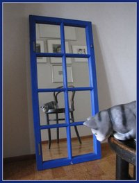 Interior mirror, made of old window