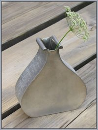Modern Karl Laine vase, made of pewter