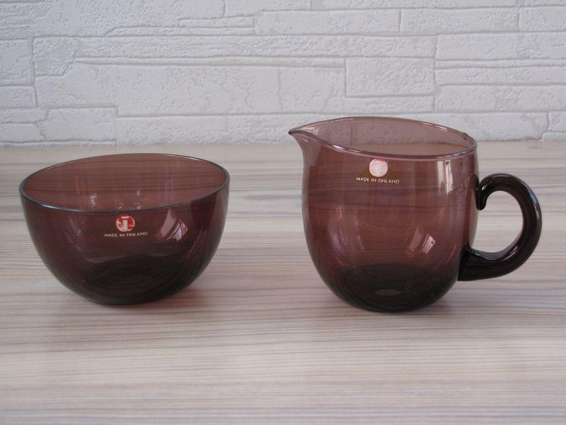tapio wirkkala sugar bowl and creamer iittala. Black Bedroom Furniture Sets. Home Design Ideas