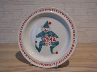Arabia clown with alphabet plate