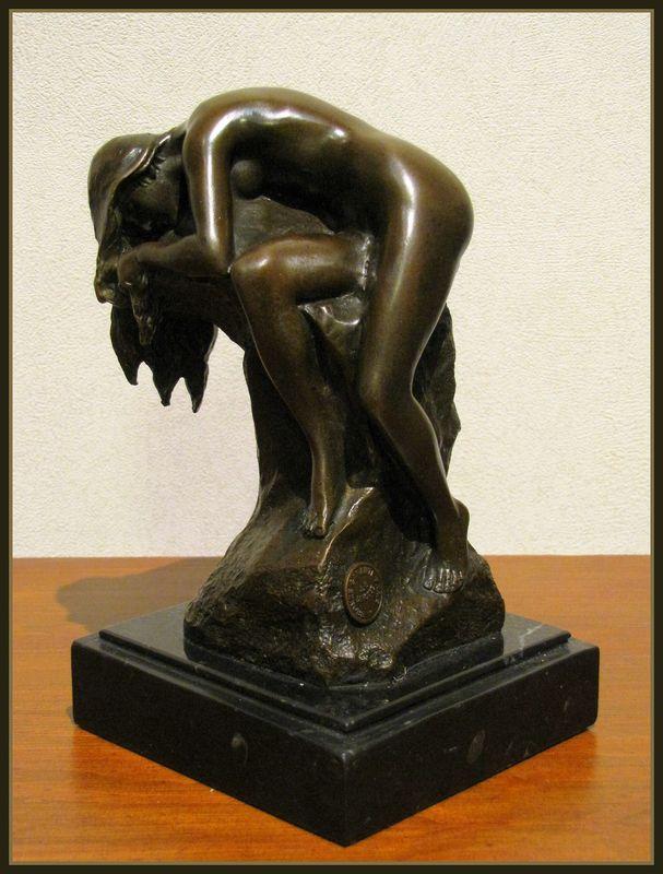 Art Nouveau Lady Bronze Statue J B Deposee Fourseasons Fi
