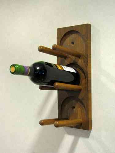 Danish teak DIGSMED wall wine rack