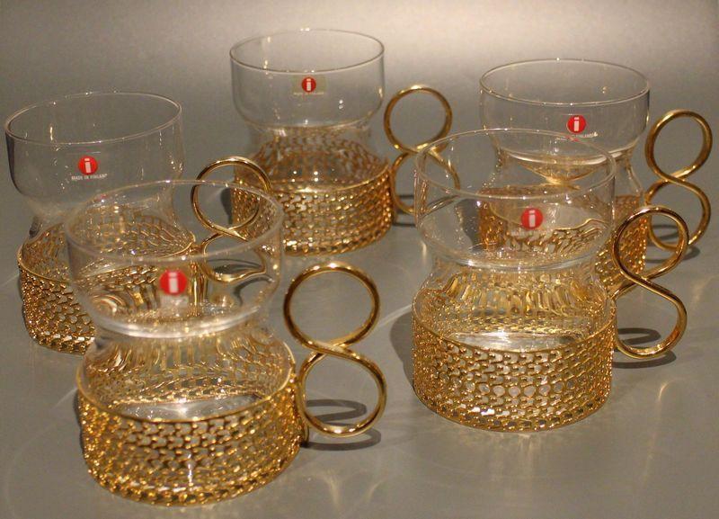 tsaikka lasit kultainen