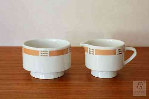 Arabia model E, sugar bowl and creamer