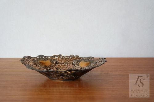 Bronze rococo style bowl by Turun hopea Ltd
