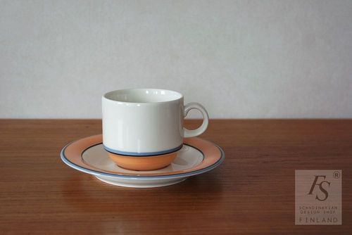 Arabia APRIKOS coffee cup and saucer