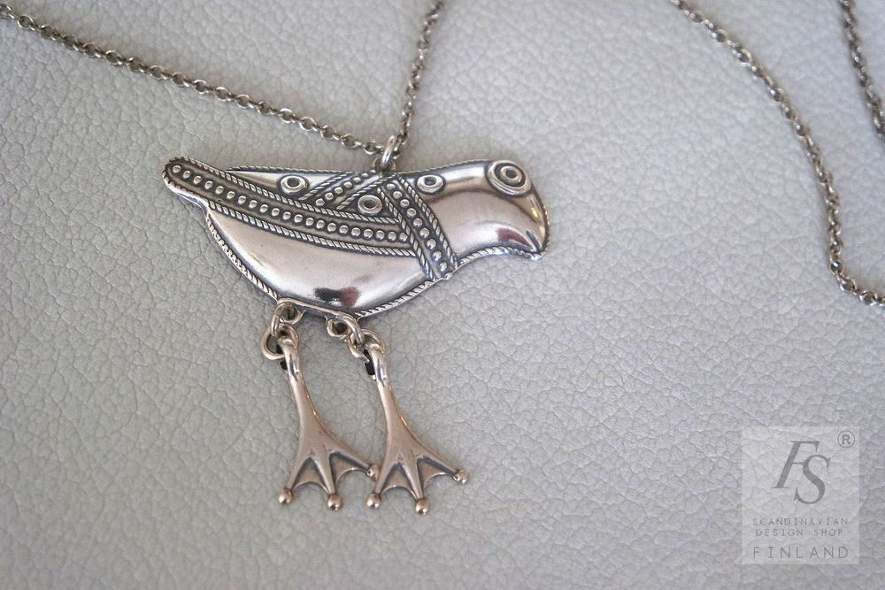 Kalevala Jewelry BIRD OF HATTULA necklace - FourSeasons.fi 5f08a3ee6b