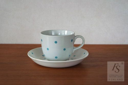 Arabia PING PONG coffee cup and saucer