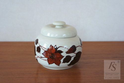 Arabia TEA FOR TWO jam jar with lid