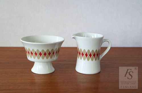 Arabia LENITA sugar bowl and creamer