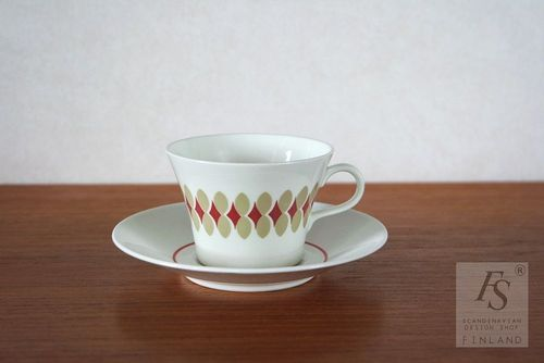 Arabia LENITA coffee cup and saucer