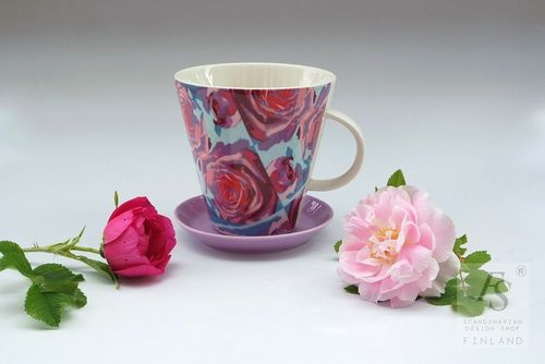Arabia KoKo Roses mug and saucer