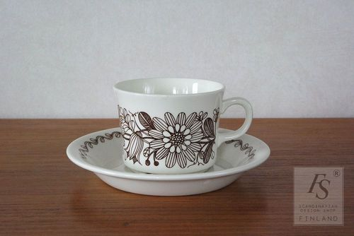 Arabia ELINA coffee cup and saucer