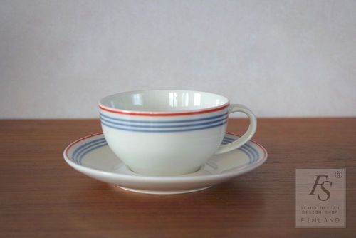 Arabia DOMINO bistro coffee cup and saucer