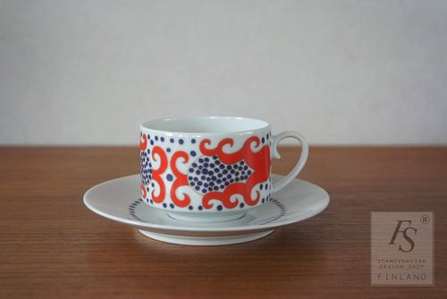 Arabia ESMERALDA coffee cup and saucer