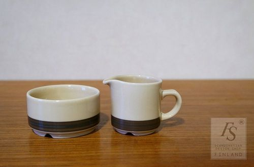 Arabia KUUSAMO sugar bowl and creamer