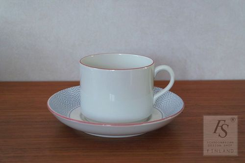 Rörstrand DOTS teacup and saucer