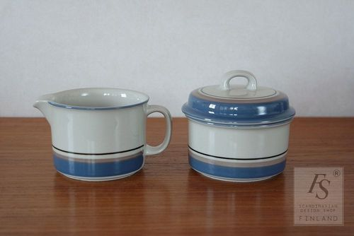 Arabia UHTUA sugar bowl and creamer
