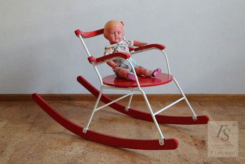 Vintage child`s rocking chair