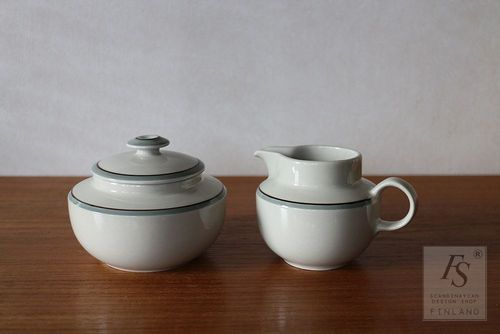 Arabia AIRISTO sugar bowl and creamer