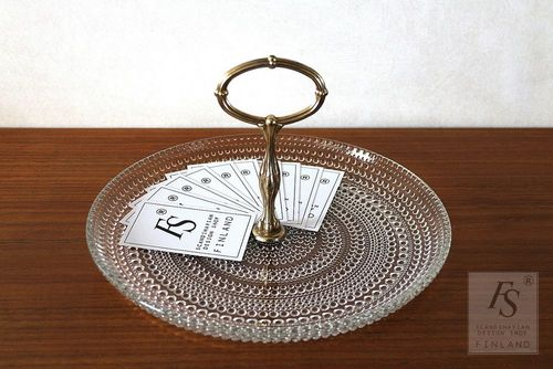 KASTEHELMI serving plate with handle
