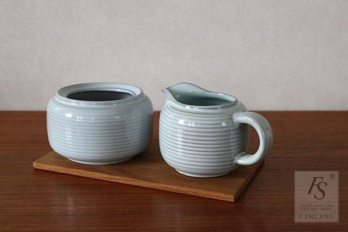 Arabia sugar bowl and creamer, Michael Schilkin