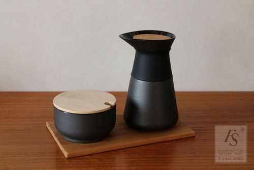 Stelton THEO sugar bowl and pitcher