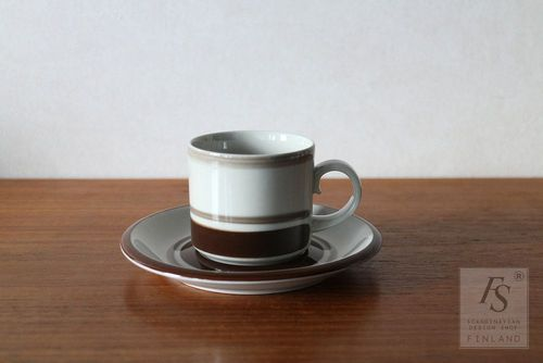 Arabia PIRTTI coffee cup and saucer