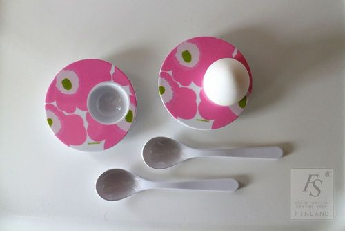 Marimekko UNIKKO egg cups with original box