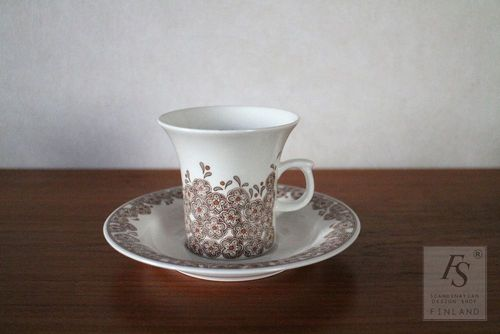 Arabia VERONICA coffee cup and saucer