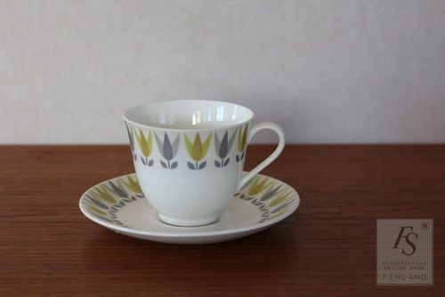 Gustavsberg LOTUS Gul coffee cup and saucer