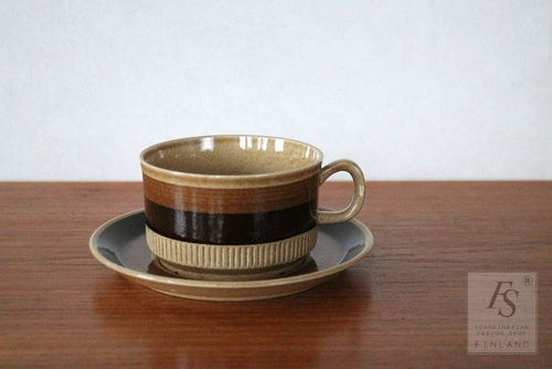 Gefle TERRA teacup and saucer