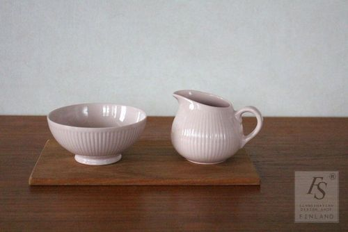 Arabia SOINTU sugar bowl and creamer