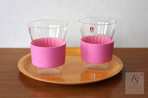 Iittala Pink HOTCOOL tea glass