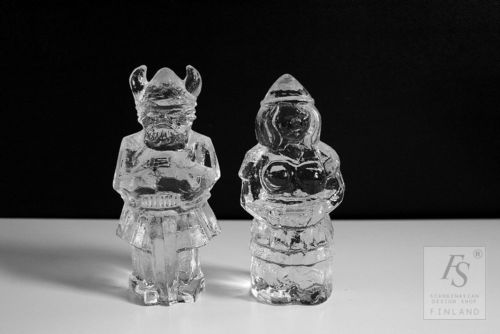 Pukeberg VIKING paperweight pair