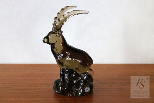 Reijmyre WWF IBEX glass figure, Paul Hoff