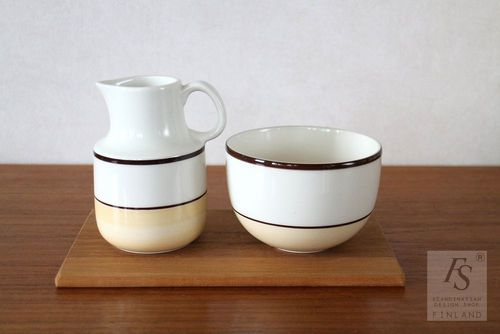 Arabia VERANDA sugar bowl and creamer