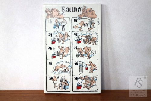 Arabia SAUNA wall guide board