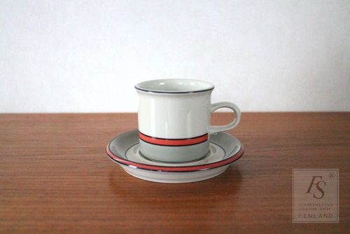 Arabia ASLAK coffee cup and saucer
