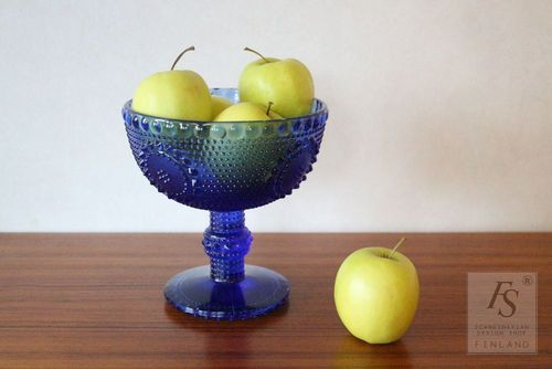 Blue GRAPPONIA  pedestal bowl