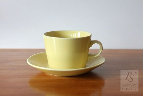 Arabia KILTA yellow cup and saucer