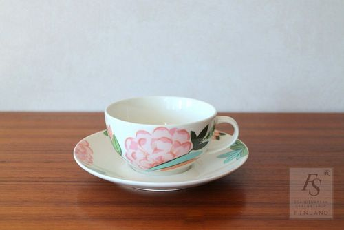 Arabia DOMINO China, teacup and saucer