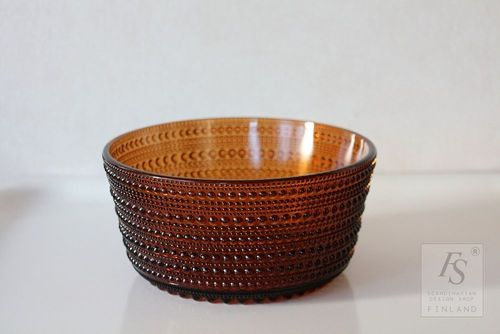 KASTEHELMI brown serving bowl 15 cm