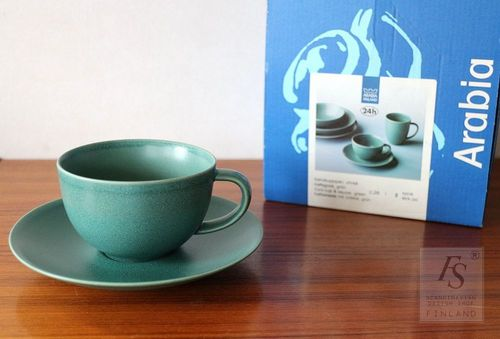 Arabia 24h, coffee cups and saucers, 2 pcs