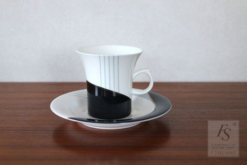arabia LYRA coffee cup and saucer 4 pcs